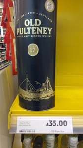 Old Pulteney 17yo £35 reduced to clear at Tesco instore