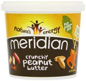 Meridian Natural Crunchy Peanut Butter With No Added Salt 1 kg - Pack of 2 £8.98  (Prime) / £13.73 (non Prime) at Amazon