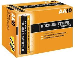 Duracell Industrial AA or AAA batteries £2.51 delivered using code @ UKDapper
