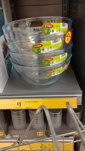 large pyrex bowls £1 instore @ Morrisons