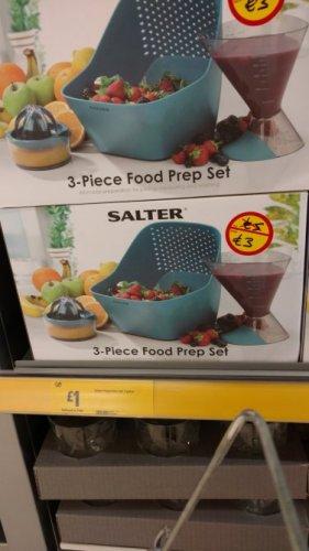 Salter 3 piece food prep set £1 instore @ Morrison's