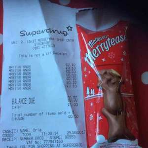 maltesers reindeer 10p each superdrug