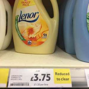 Lenor super concentrated fabric conditioner 116 washes was £7.50 now £3.75 at Tesco instore