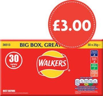 Walkers 30pack variety box - £3 @ Morrisons