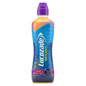 Lucozade Sport Mango & Passionfruit 750ml 39p or 3 for £1 @ Heron