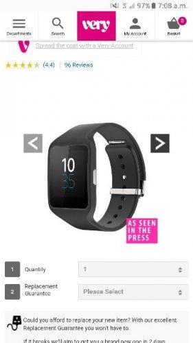 Sony Smart Watch 3 SWR50 - Black £74.99 | very.co.uk