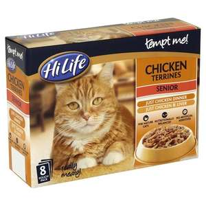 HiLife Tempt Me Senior Cat Food Chicken Terrine 8x85g - Priced at £3.99 but scanning at £2 @ Pets At Home (In store)