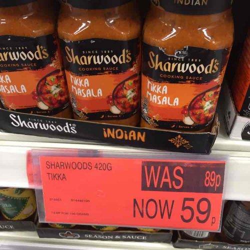 Sharwoods Tikka Masala Sauce 59p @ B&M