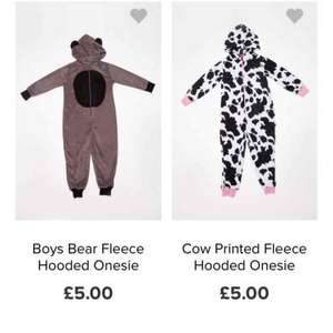 8 styles kids fleece onesies £4.75 delivered at everything 5 pounds with code MEGA5MSE girls and boys