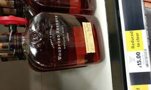 Woodford Reserve Bourbon Whiskey, 70 cl, Just £15 - **INSTORE** Tesco - See Pic Proof In Posts