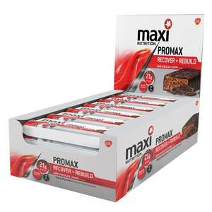 MaxiNutrition Promax Protein Bars, 60 g - Dark Chocolate Cherry, Pack of 12 £9.06 prime / £13.81 non prime @ Amazon