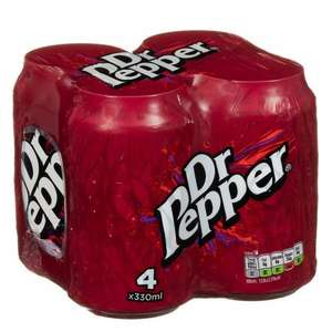 Dr Pepper 4 cans x 330ml was 99p now 79p @ B&M