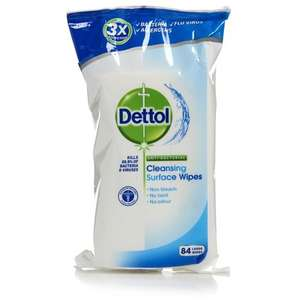 Dettol ×84 Anti Bacterial Cleaning Wipes 84 s £1.75 Wilko
