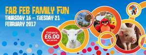 Lightwater Valley. Fab Feb Fun event = £6 per person (+2.50 admin fee per order)