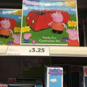 Peppa pig family car construction set £3.25 Tesco instore