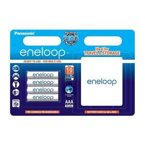 Panasonic Eneloop BK-4MCCEC4BE AAA Rechargeable Batteries with Batterybox (Pack of 4) £6.99 Amazon Prime / £10.98 non prime