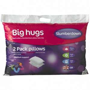 Slumberdown big hugs pillow x2 just £4.99 @poundstretcher