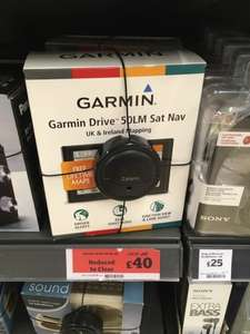 Garmin Drive 50LM SatNav - £40 at Sainsburys (SE12)