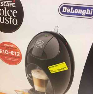 Nescafé Dolce Gusto Coffee Machine Jovia Manual Coffee by De'Longhi EDG250.B - Black £19.99 @ Morrisons