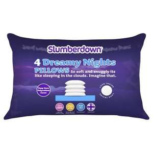 Slumberdown Dreamy Nights 4 Pack Pillow, £9 from tesco
