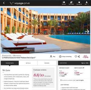 70% off Morrocco Essaouira 5* Hotel & Spa - 3 nights from £209pp inc flights @ Voyage-prive.co.uk