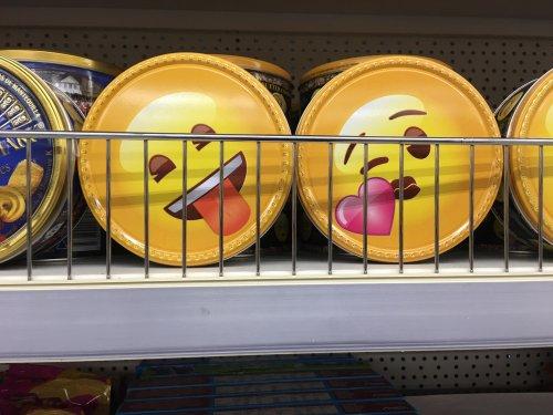Emoji tin of biscuits £1 instore @ Poundland