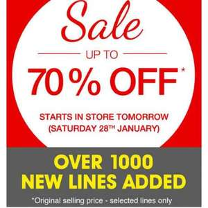 Matalan Online over 1000 Sales lines added  Starts instore Saturday 28th up to 70% off