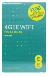 EE PAYG SIM CARD PRELOADED 12GB SUPERFAST 4G DATA £19.99 @ mymemory
