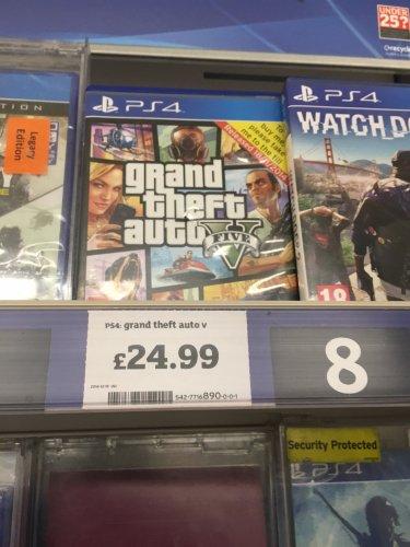 GTA 5 - PS4 £24.99 @ Sainsbury's - Ripley