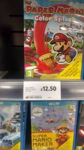 Paper Mario Color Splash - Wii U - £12.50 instore Tesco