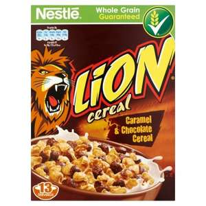 Lion cereal 575g / Toffee Crisp cereal 330g - £1.50 / £1.00 @ Asda