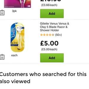 Gillette Venus & Olay Razor £4.00 at Asda