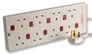 Surge Protected Individually Switched 8 outlet Extension Lead @CPC £7.67 delivered!