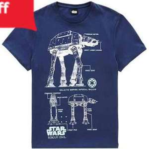 Star Wars men's AT-AT Tshirt in navy (all sizes XS to XXXL) £5 click n collect at Tesco / Florence and Fred F&F