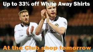 Newport County AFC Away Shirts 33% off - adults £25, kids £20