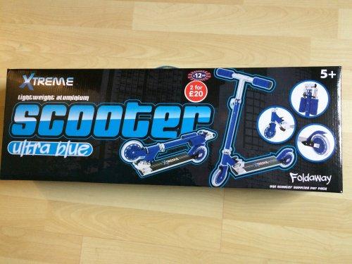 Extreme Blue Folding Scooter £2.99 @ B&M