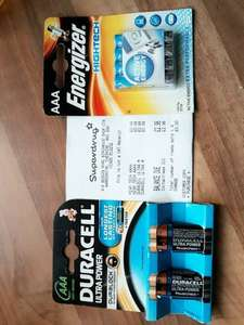 energizer 49p and duracell 99p AAA batteries cheap superdrug