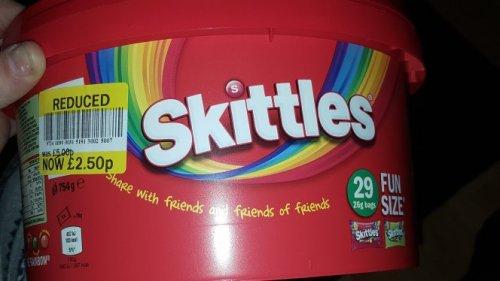 29 pack skittles for £2.50 instore @ Tesco