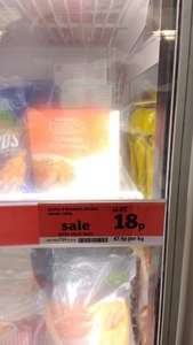 4 frozen breaded chicken steaks 18p @ Sainsbury's