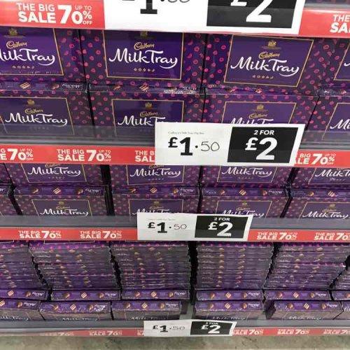 Cadbury Milk Tray 2 for £2 instore @ Mega Value Mansfield