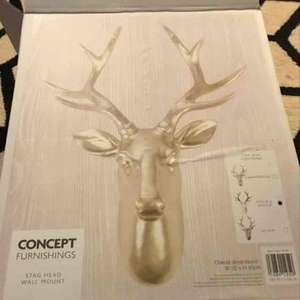 Stag Head wall mount £9.99 instore @ Home Bargains