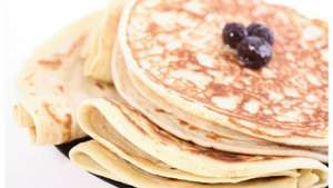 Iceland pancake deal buy a pancake pan for £5 and get pancake mix, lemon juice,fry light spray and maple syrup for free!