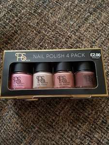PS nail Polish 4 pack @ Primark only £2