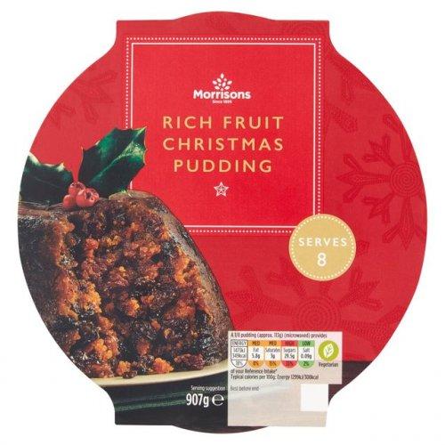 Morrisons Christmas Pudding 907g - £1