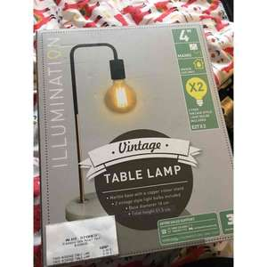 Vintage Table Lamp @ Aldi was £19.99 now £9.99!