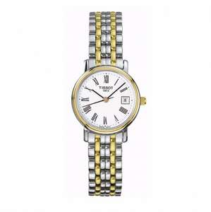 Tissot Desire ladies' two-colour bracelet watch 10% off Ernest Jones £175
