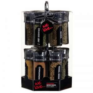 Spice rack with spices 12 pc £9.99 @ b and m