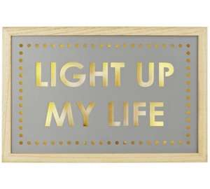 """Light up my Life"" wooden light box £3.99 (was £14.99) @ Argos"
