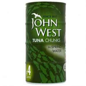John west 4 cans of tuna in water in brine or in oil just £2.39 @ poundstretcher