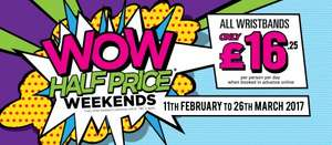 WOW Weekends at blackpool pleasure beach £16.25 pp when booked online